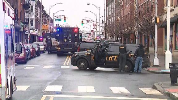 Police responded to reports of shots fired Tuesday in Jersey City.