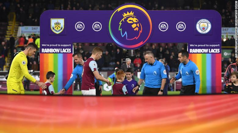 The Rainbow Laces campaign ran for two match days in December. It's part of a three-year partnership with Stonewall.