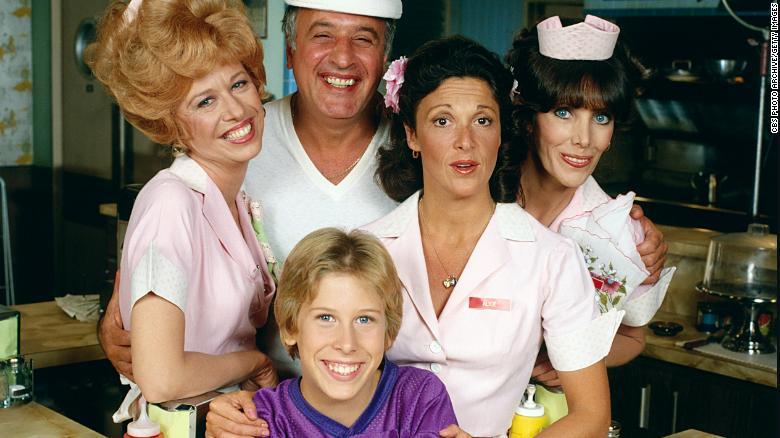 """The """"Alice"""" cast from left to right: Polly Holliday, Vic Tayback, Philip McKeon, Linda Lavin and Beth Howland."""