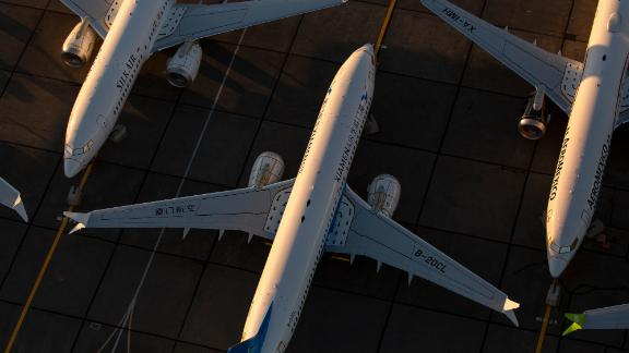 MOSES LAKE, WA - OCTOBER 23: Boeing 737 MAX airplanes are parked at Grant County International Airport October 23, 2019 in Moses Lake, Washington. Boeing reported that its profits were down by more than half in the latest quarter. The company has finished updates and testing on the 737 MAX and plans to have the planes flying by the end of the year. (Photo by David Ryder/Getty Images)