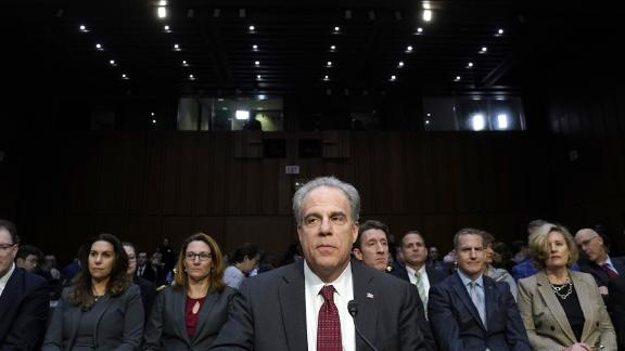 WASHINGTON, DC  DECEMBER 11: Michael Horowitz, inspector general for the Justice Department, arrives to testify before the Senate Judiciary Committee in the Hart Senate Office Building on December 11, 2019 in Washington, DC. Horowitz is answering questions regarding the report he released Monday on the FBIs investigation into possible connections between Russian interference in the 2016 presidential election and the Trump campaign.   (Photo by Win McNamee/Getty Images)