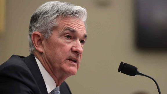 "WASHINGTON, DC - NOVEMBER 14:  Federal Reserve Board Chairman Jerome Powell testifies during a hearing before the House Budget Committee November 14, 2019 on Capitol Hill in Washington, DC. The committee held a hearing on ""The Economic Outlook: The View from the Federal Reserve.""  (Photo by Alex Wong/Getty Images)"