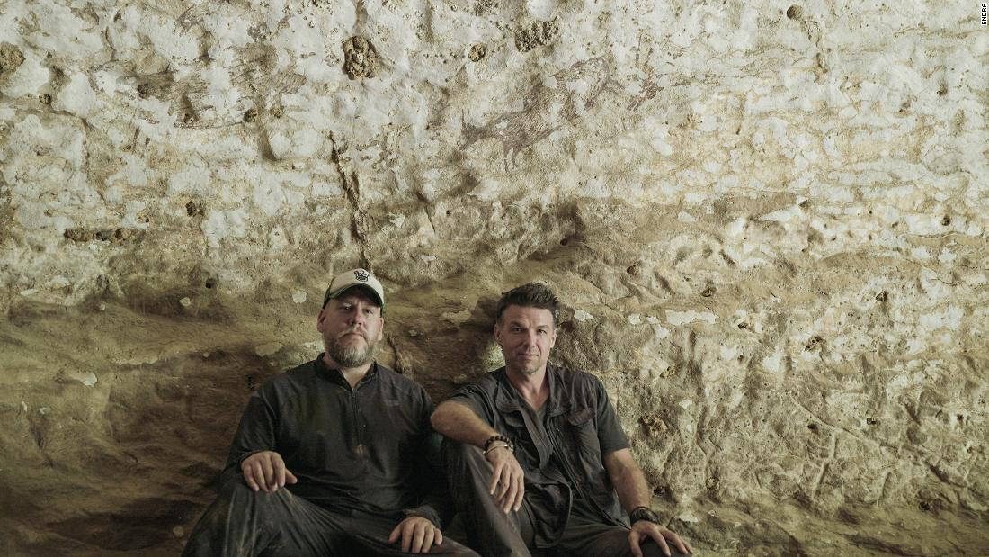 <strong>Prehistoric Picasso: </strong>Maxime Aubert and Adam Brumm were part of the team that made the discovery of the world's oldest rock art found in a cave in Sulawesi, Indonesia.