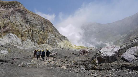 A photo taken by Geoff Hopkins on White Island, prior to the volcano