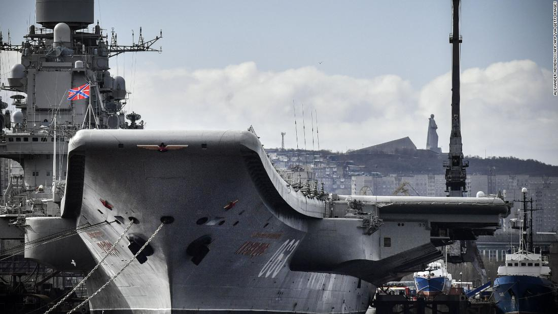 Russia's only aircraft carrier catches fire; 1 dead and 2 missing