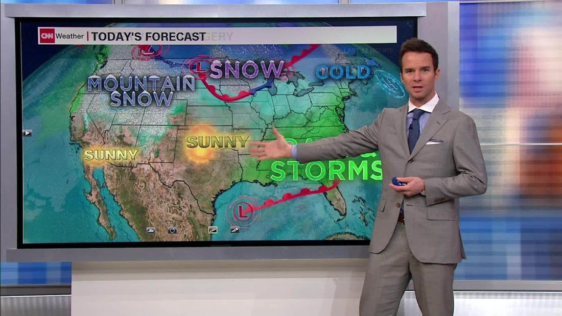 Wet and windy weekend forecast along the East Coast