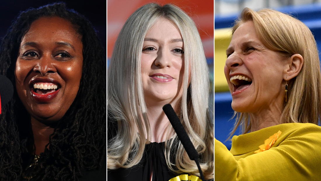 Labour's Dawn Butler, SNP's Amy Callaghan and the Liberal Democrats' Wera Hobhouse are all among the record number of women who secured victories in the 2019 general election.