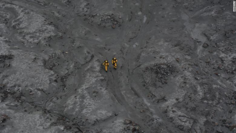 An image of the recovery operation on White Island, New Zealand, on December 13, 2019.