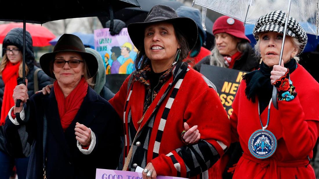 Σάλι φιλντ συνελήφθη σε διαμαρτυρία για το κλίμα