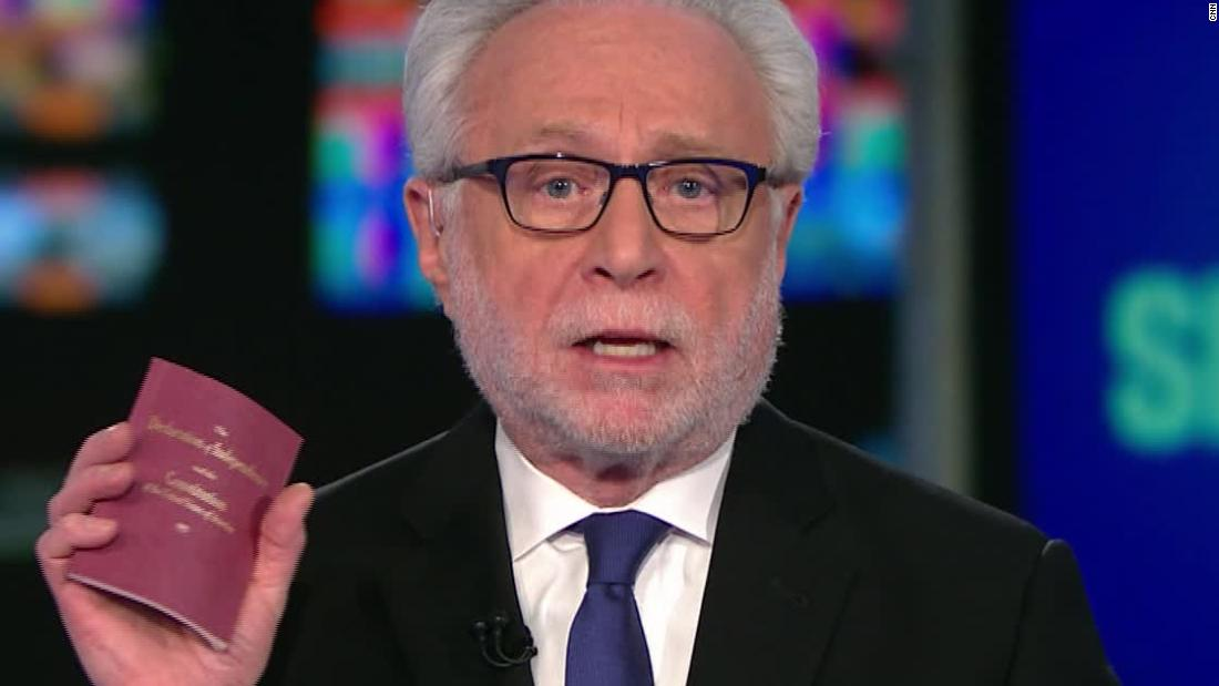 Wolf Blitzer explains why he keeps the Constitution close