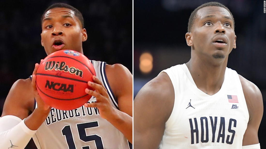 Two of Georgetown's accused basketball players to transfer