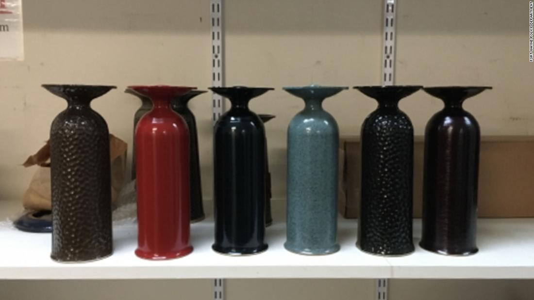 248 vases stolen from graves in an Indiana cemetery