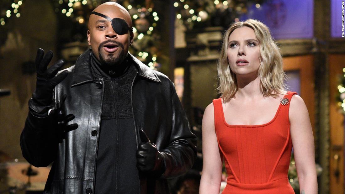 Scarlett Johansson Rescues Snl Cast From Thanos In Avengers Themed Monologue Cnn