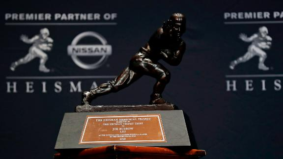 The trophy is seen on December 14, 2019, at the Marriott Marquis in New York City.