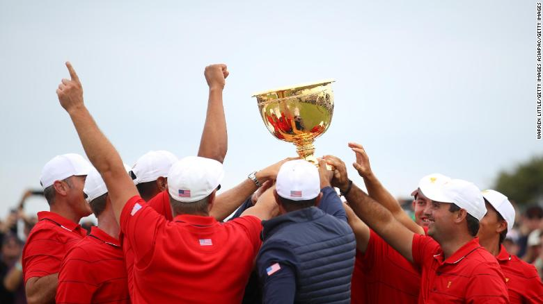 One for all ... and all for one ... the brotherhood of the US Presidents Cup team.