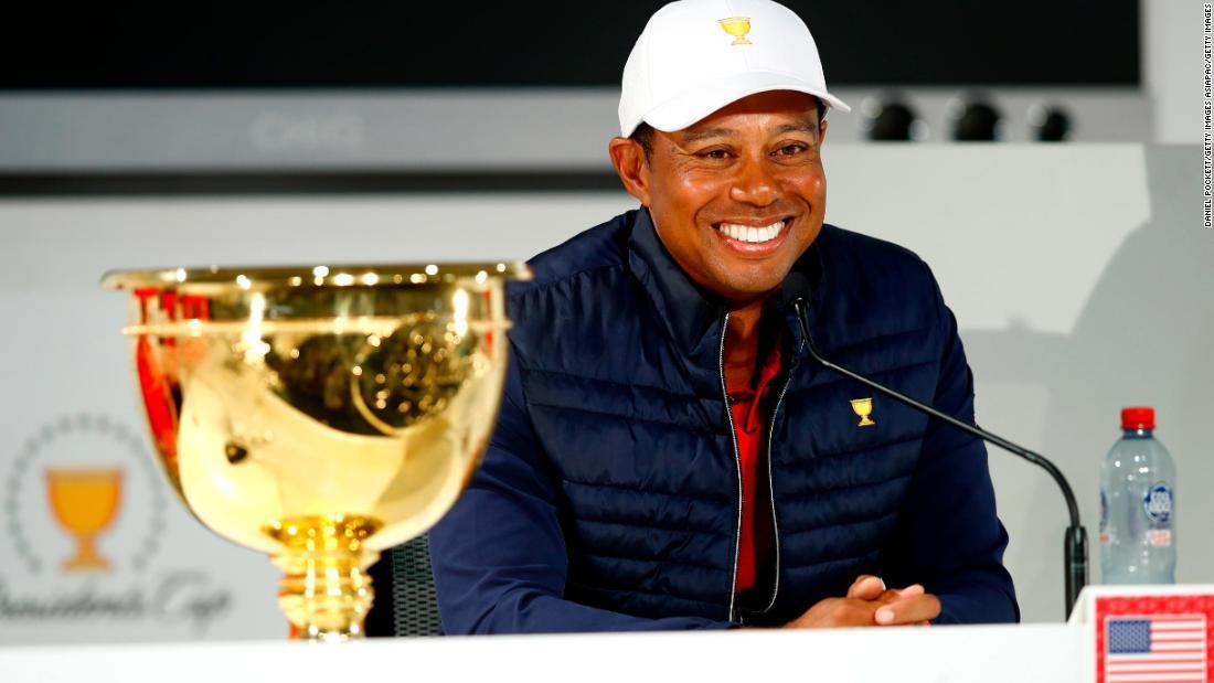 Tiger Woods merasa senang karena KAMI menang tim Piala Presiden