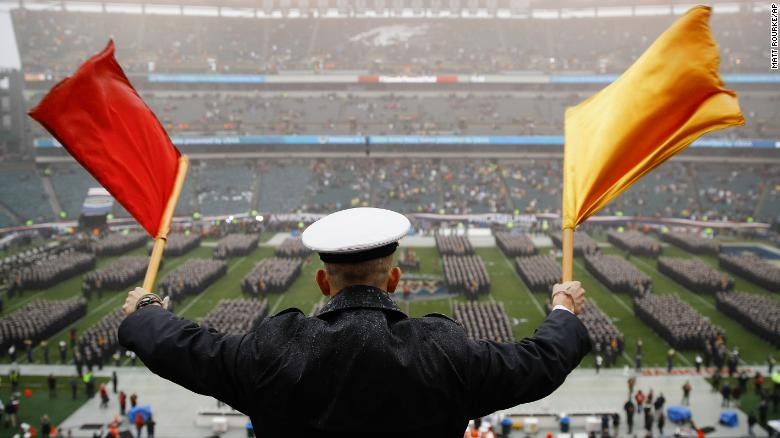 Controversial Gesture Caught On Video At Army Navy Game