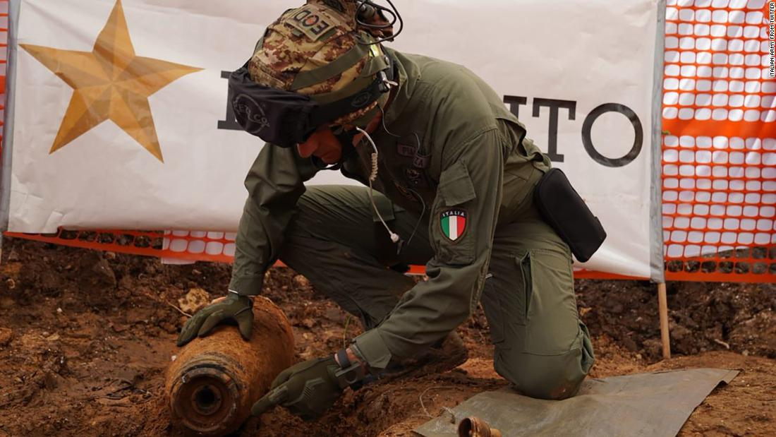 Italy sees its biggest peace-time evacuation after builders find WWII bomb