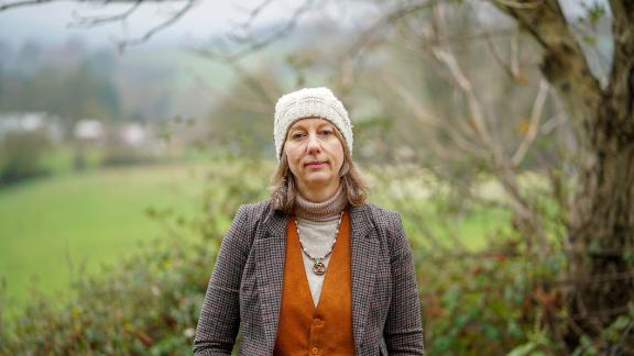 Gail Bradbrook at a farming cooperative in Stroud, in the western edge of the Cotswolds.