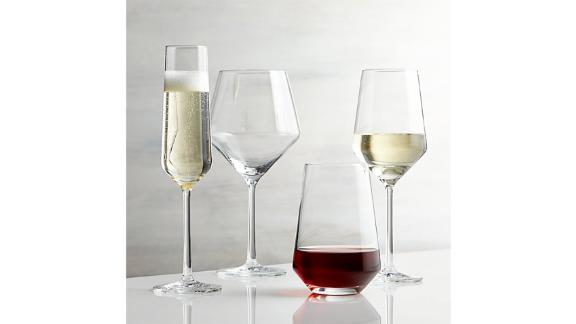 Tour Wine Glasses (starting at $9.95; crateandbarrel.com)