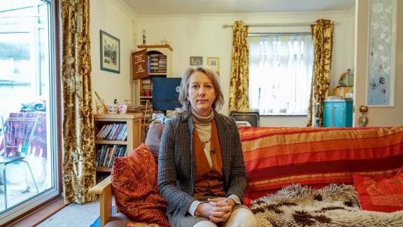 Gail Bradbrook in her home in Stroud.