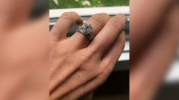 An Australian couple's diamond engagement and wedding rings were recovered from a trash collection center in Melbourne.