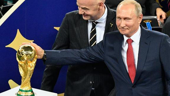 Russian President Vladimir Putin was seen throughout the 2018 World Cup in Russia.