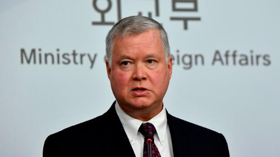 SEOUL, SOUTH KOREA - DECEMBER 16: U.S. Special Representative for North Korea Stephen Biegun attends the brief after meeting with South Korea's special representative for Korean Peninsula Peace and Security Affairs Lee Do-hoon (not pictured)  on December 16, 2019 in Seoul, South Korea. Biegun arrived in Seoul the previous day as Pyongyang has been ramping up pressure on Washington to present an acceptable proposal before its year-end deadline to advance their stalemated nuclear negotiations. (Photo by Song Kyung-Seok-Pool/Getty Images)
