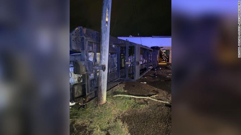 Damage from Laurel, Mississippi