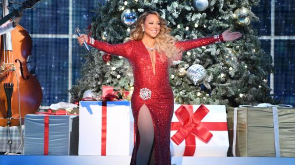 """NEW YORK, NEW YORK - DECEMBER 15:  Mariah Carey performs onstage during her """"All I Want For Christmas Is You"""" tour at Madison Square Garden on December 15, 2019 in New York City. (Photo by Kevin Mazur/Getty Images for MC)"""
