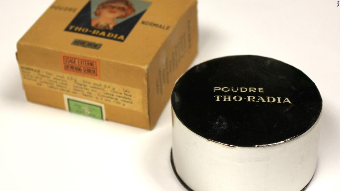 When beauty products were radioactive