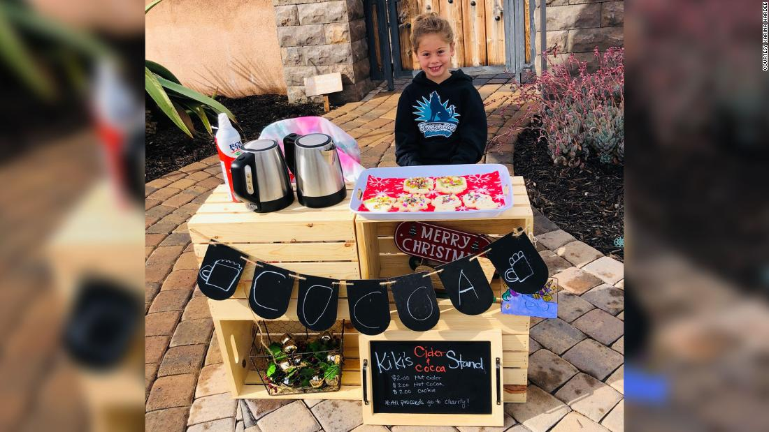 This 5-year-old paid off the lunch balances for 123 students by selling cocoa and cookies