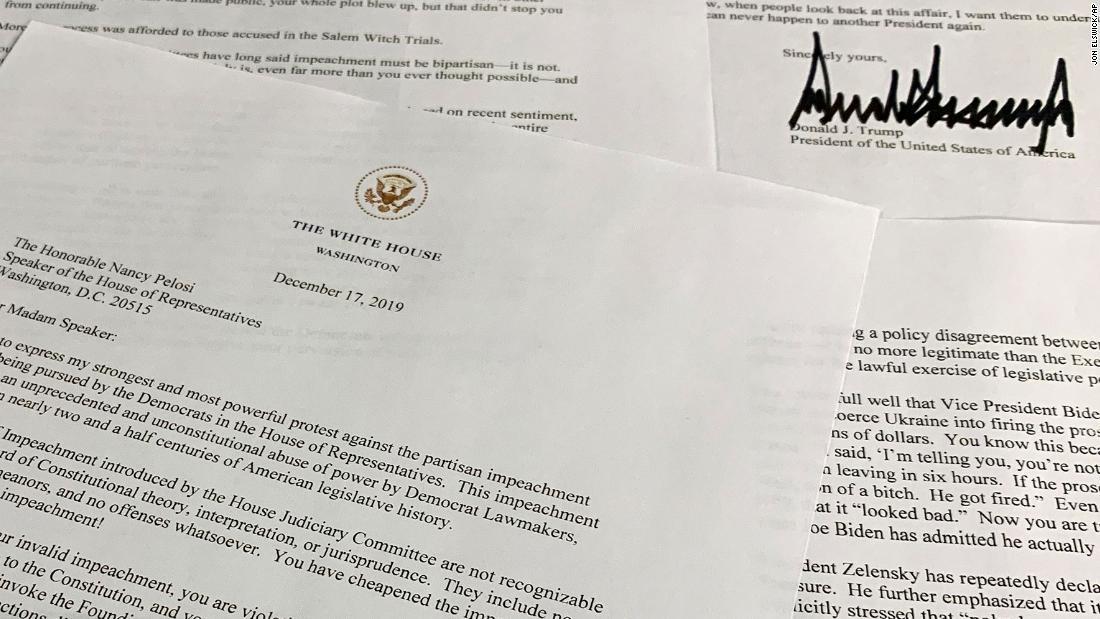 Tatsache check: Trump ' s Brief ist gefüllt mit falschen und irreführenden Behauptungen