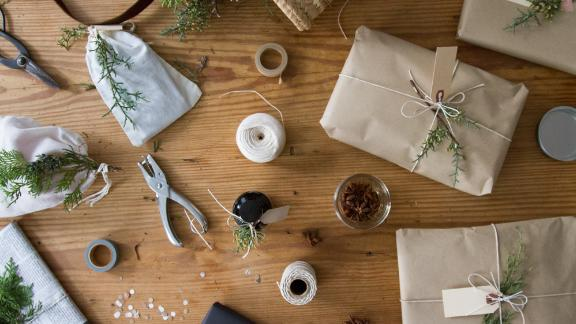 Blogger Erin Boyle's eco-friendly gift wrapping.