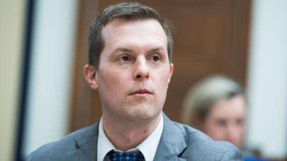 "Rep. Jared Golden, a Maine Democrat, is seen during a House Armed Services Committee hearing titled ""Outside Perspectives on Nuclear Deterrence Policy and Posture"" in Washington."