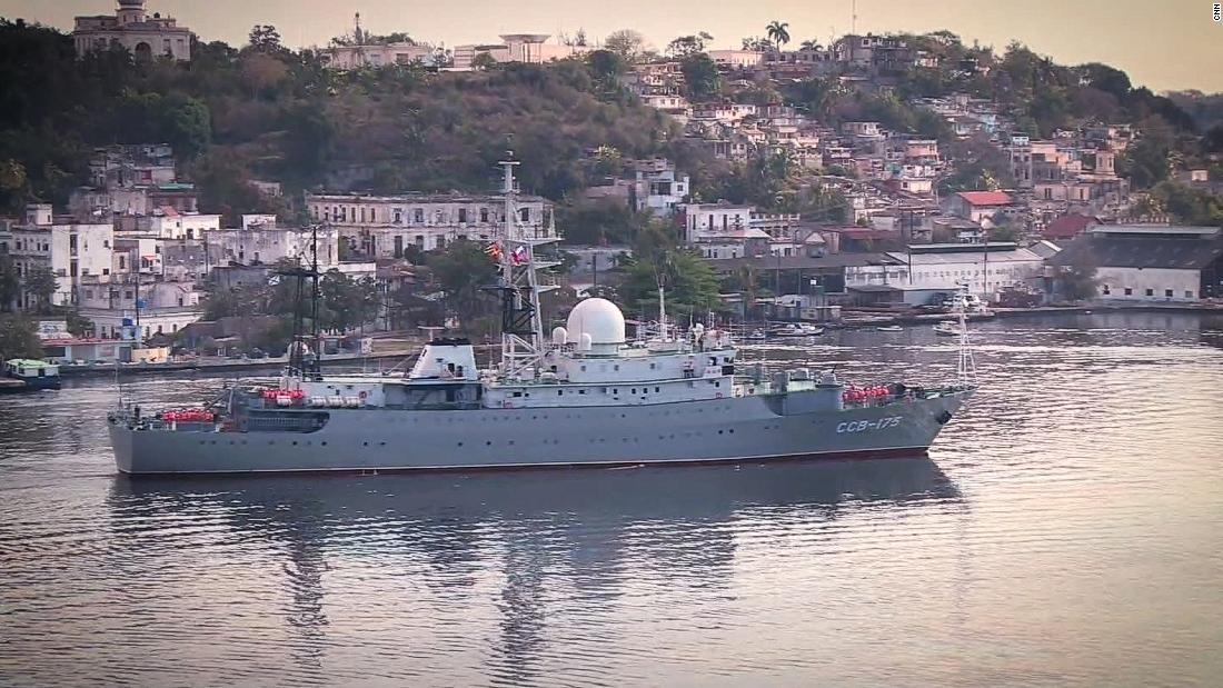 Russian spy ship off US coast operating in 'unsafe manner,' officials say
