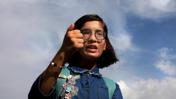 Climate activist Ridhima Pandey in New Delhi, India, on September 26, 2019.