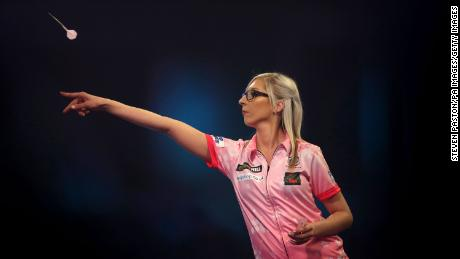 Fallon Sherrock made history when she beat Ted Evetts in a World Darts Championship match on Tuesday.