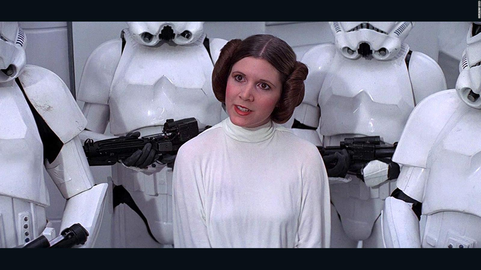 Remember When Carrie Fisher Debuted Princess Leia S Side Buns Cnn Style