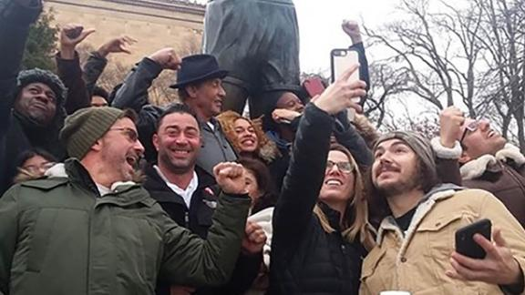 Eastside High School students were paid a surprise visit by actor Sylvester Stallone.