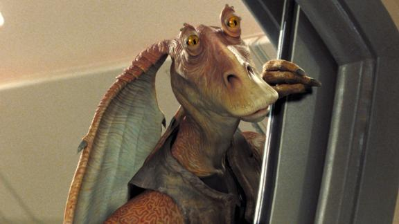 Jar Jar Binks was based on a design that included blending an emu with a duck-billed dinosaur. His short thighs were responsible for his bird-like walk.