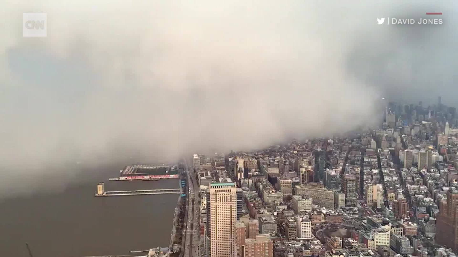Watch Snow Squall Engulf New York City Cnn Video