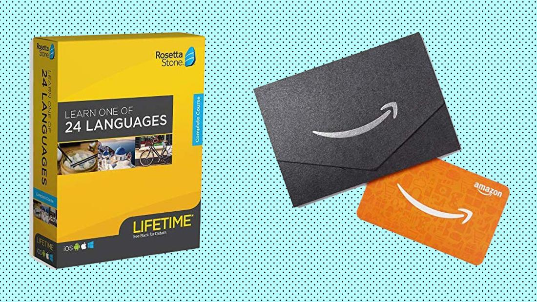 Sparen auf Rosetta Stone und Gäste ein $20 Amazon Geschenkkarte