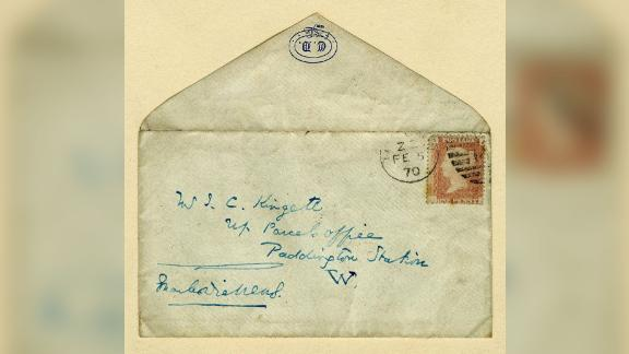 The envelope featured Dickens