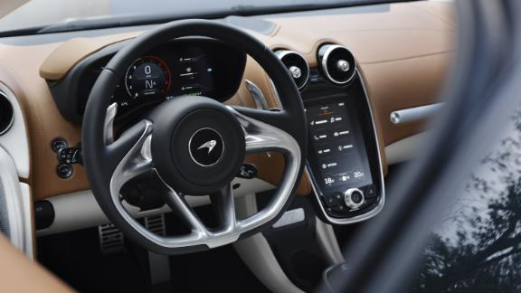 McLaren interiors always look good but the touch screen controls can be a bit annoying.