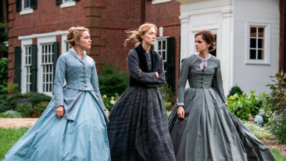 Florence Pugh, Saoirse Ronan and Emma Watson in Greta Gerwig