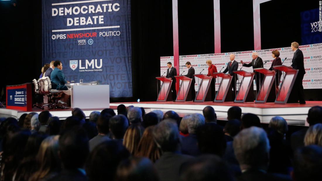 In Bildern: Die Demokratische Debatte in Los Angeles