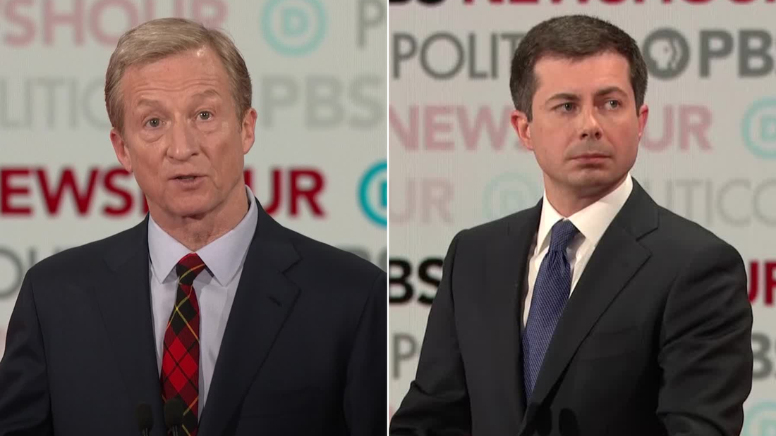 tom steyer pete buttigieg screengrab