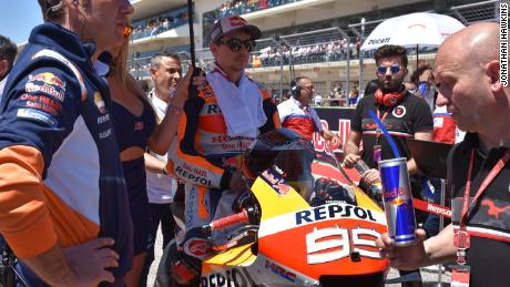 Jorge Lorenzo on a Honda bike ahead of the Austin MotoGP.