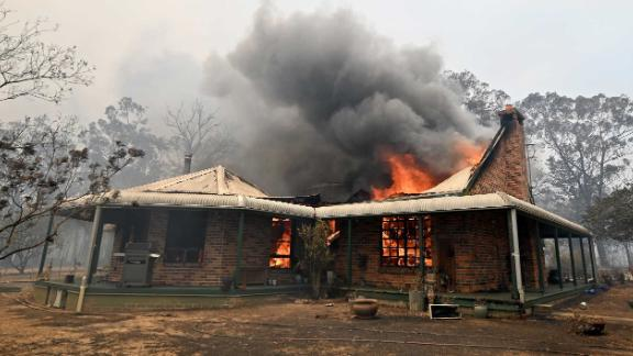 A property burns in Balmoral on December 19.